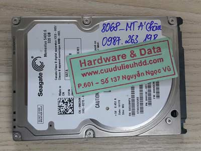 8068 Seagate 320GB hỏng đầu từ