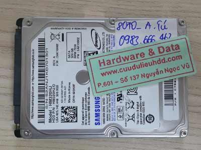 8070 Samsung 320GB mất dữ liệu