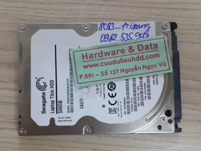 8083 Seagate 500GB mất dữ liệu