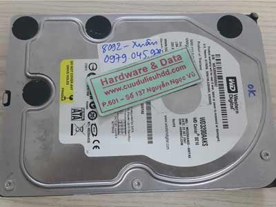 8092 Western 320GB lỗi cơ