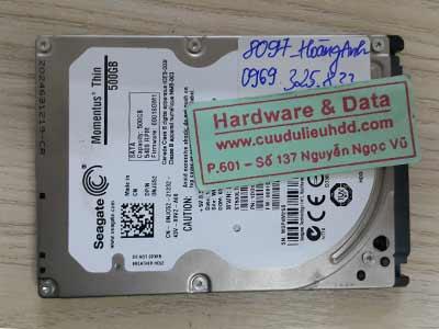 8097 Seagate 500GB mất dữ liệu