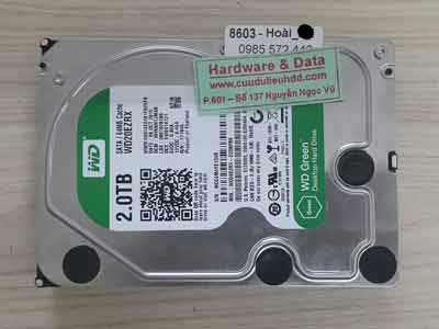 Lấy lại dữ liệu ổ cứng Western 2TB đầu đọc lỗi