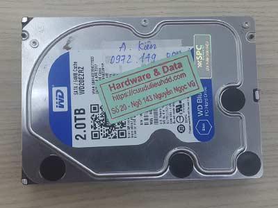 Cứu dữ liệu ổ cứng Western 2TB đầu từ lỗi