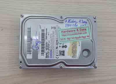 khôi phục dữ liệu ổ cứng Samsung 160GB chết cơ