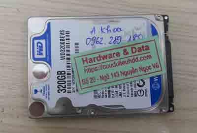 cứu dữ liệu ổ cứng Western 320GB chết cơ