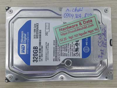 Khôi phục dữ liệu ổ cứng Western 320GB đầu từ lỗi