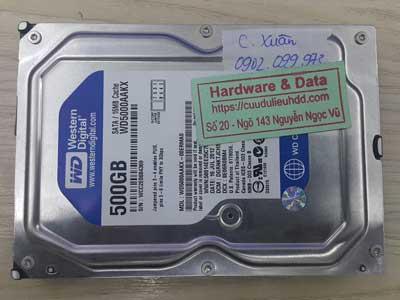 Cứu dữ liệu ổ cứng Western 500GB đầu đọc lỗi