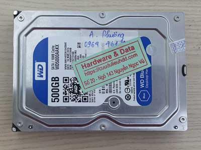 Cứu dữ liệu Western 500GB đầu đọc lỗi