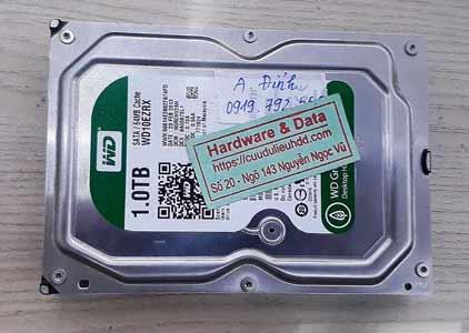 Khôi phục dữ liệu ổ cứng Western 1TB chết cơ