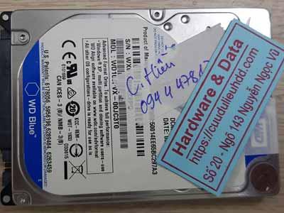 Cứu dữ liệu ổ cứng Western 1TB hỏng đầu từ