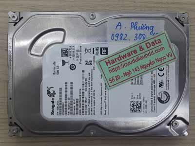Khôi phục dữ liệu ổ cứng Seagate 500GB bị mất dữ liệu