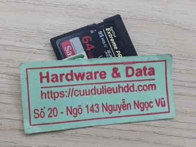 Cứu dữ liệu thẻ nhớ  Sandisk 64GB