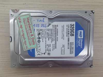 lấy lại dữ liệu Western 320GB lỗi cơ