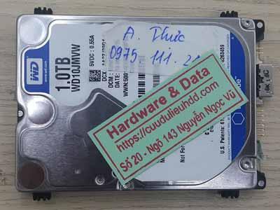 Phục hồi dữ liệu ổ cứng Western 1TB hỏng 1/4 đầu từ