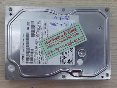 Khôi phục dữ liệu ổ cứng Hitachi 250GB lỗi đầu từ