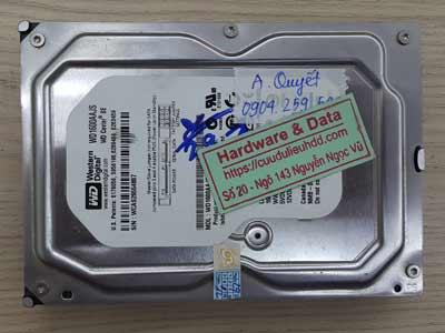 Cứu dữ liệu ổ cứng Western 160GB bị chết cơ