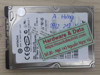 Cứu dữ liệu ổ cứng Hitachi 120GB bị chết cơ
