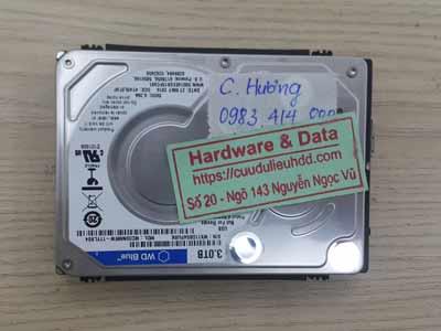 Lấy lại dữ liệu ổ cứng Western 3TB hỏng đầu từ
