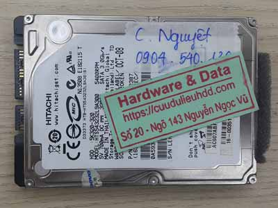 Lấy lại dữ liệu ổ cứng Hitachi 320GB bị lỗi đầu từ