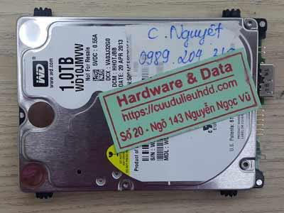 Phục hồi dữ liệu ổ cứng Western 1TB  hỏng đầu đọc