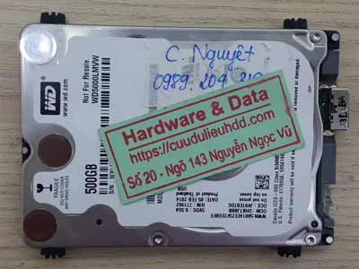 Cứu dữ liệu ổ cứng Western 500GB lỗi đầu từ