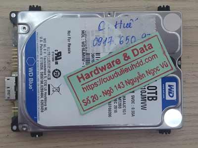 Phục hồi dữ liệu ổ cứng Western 1TB  lỗi đầu đọc