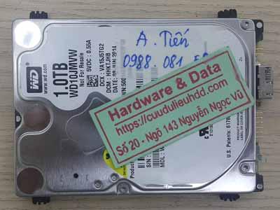 Phục hồi dữ liệu ổ cứng Western 1TB bị chết cơ