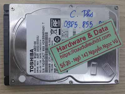 Khôi phục dữ liệu ổ cứng Toshiba 1TB bị chết cơ
