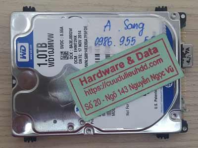 Phục hồi dữ liệu ổ cứng Western 1TB lỗi 1/4 đầu từ