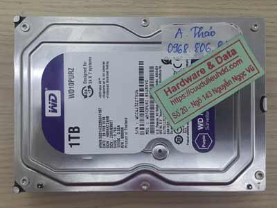 Phục hồi dữ liệu ổ cứng  Western 1TB mất dữ liệu