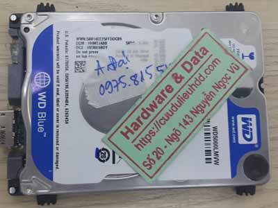 Cứu dữ liệu ổ cứng Western 500GB hỏng đầu từ