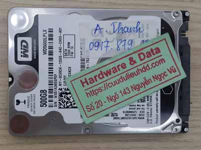 Phục hồi dữ liệu ổ cứng Western 500GB bị bitlocker