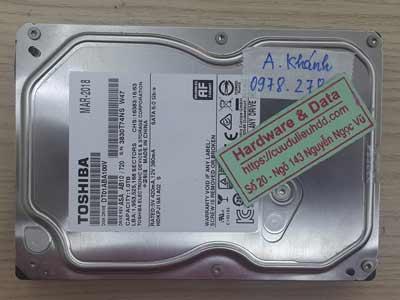 Phục hồi dữ liệu ổ cứng Toshiba 1TB bị mất dữ liệu