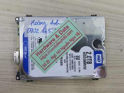 Khôi phục dữ liệu ổ cứng Western 2TB hỏng đầu từ