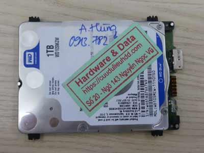 khôi phục dữ liệu ổ cứng Western 1TB hỏng đầu từ