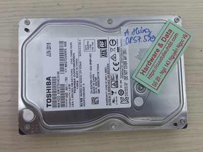 Phục hồi dữ liệu ổ cứng Toshiba 1TB đầu từ lỗi