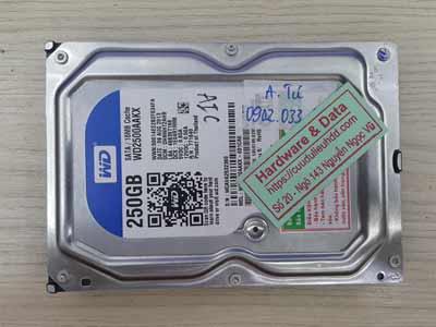 Cứu dữ liệu Western 250GB chết cơ