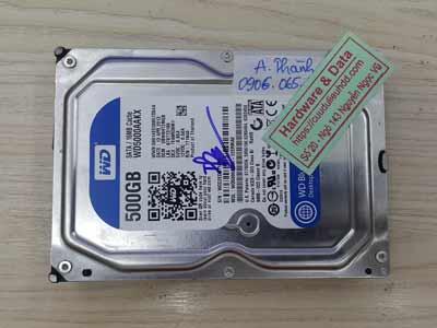 Cứu dữ liệu Western 500GB hỏng cơ