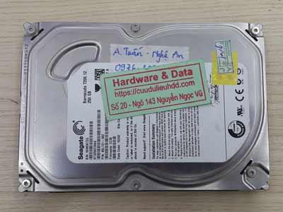 lấy dữ liệu ổ cứng Seagate 250GB lỗi cơ