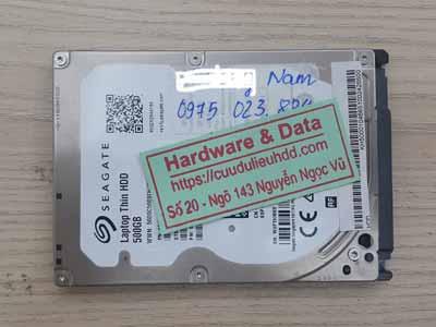 khôi phục dữ liệu ổ cứng Seagate-500GB đầu từ lỗi
