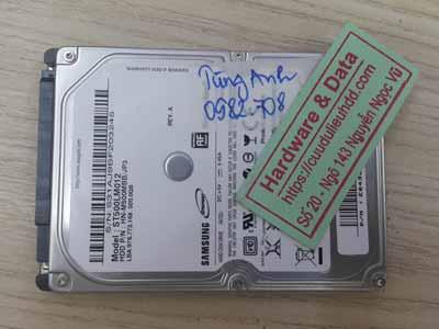Cứu dữ liệu Samsung 500GB lỗi cơ