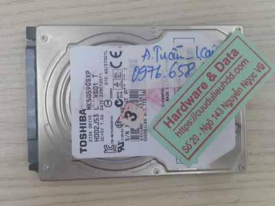 Cứu dữ liệu Toshiba 500GB bị mất định dạng