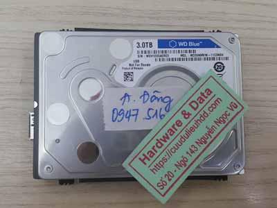 cứu dữ liệu ổ cứng Western 3tb chết cơ