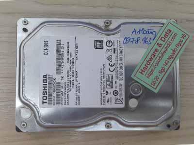 Phục hồi dữ liệu Toshiba 500GB đầu từ lỗi