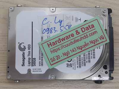 Lấy lại dữ liệu Seagate 500GB lỗi đầu đọc