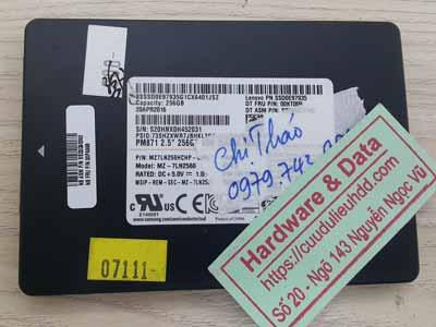 khôi phục dữ liệu ổ cứng SSD 256GB lỗi chip