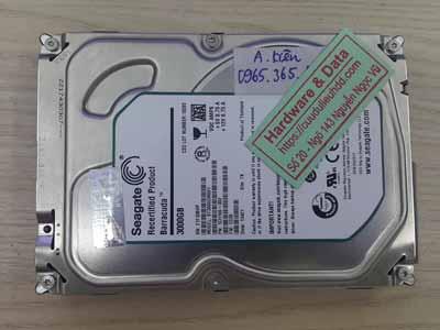 cứu dữ liệu ổ cứng Seagate 3TB đầu từ lỗi