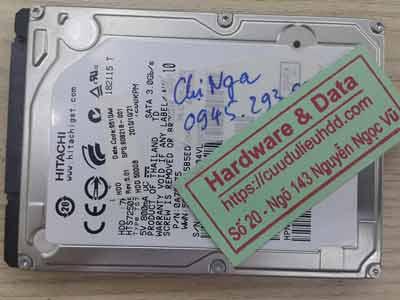 lấy lại dữ liệu ổ cứng Hitachi 500GB hỏng đầu từ