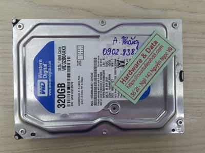 Phục hồi dữ liệu ổ cứng western 320GB chết cơ