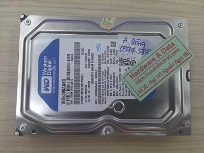 Cứu dữ liệu ổ cứng western 500GB ghost nhầm ổ dữ liệu